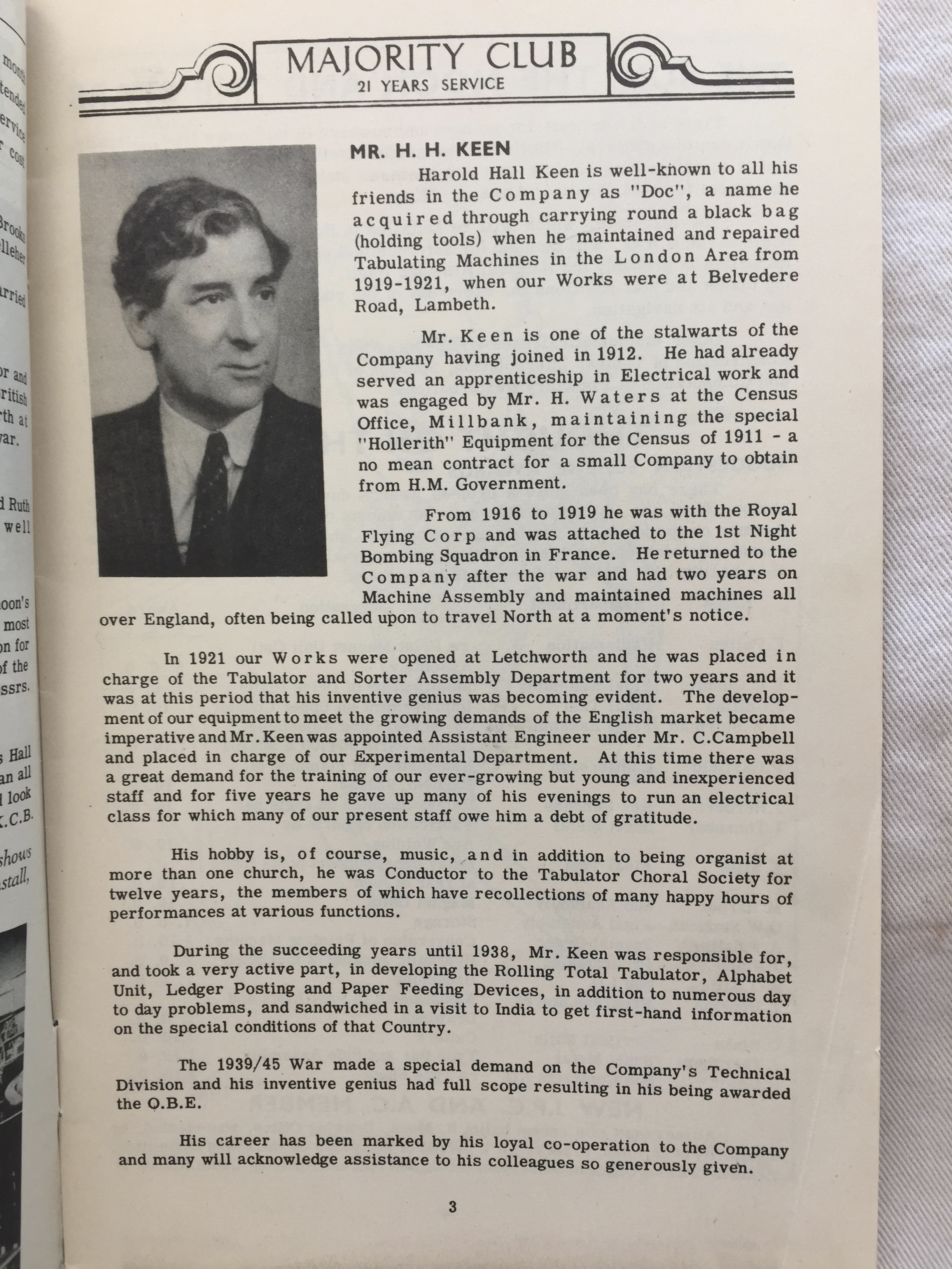 Harold Keen story