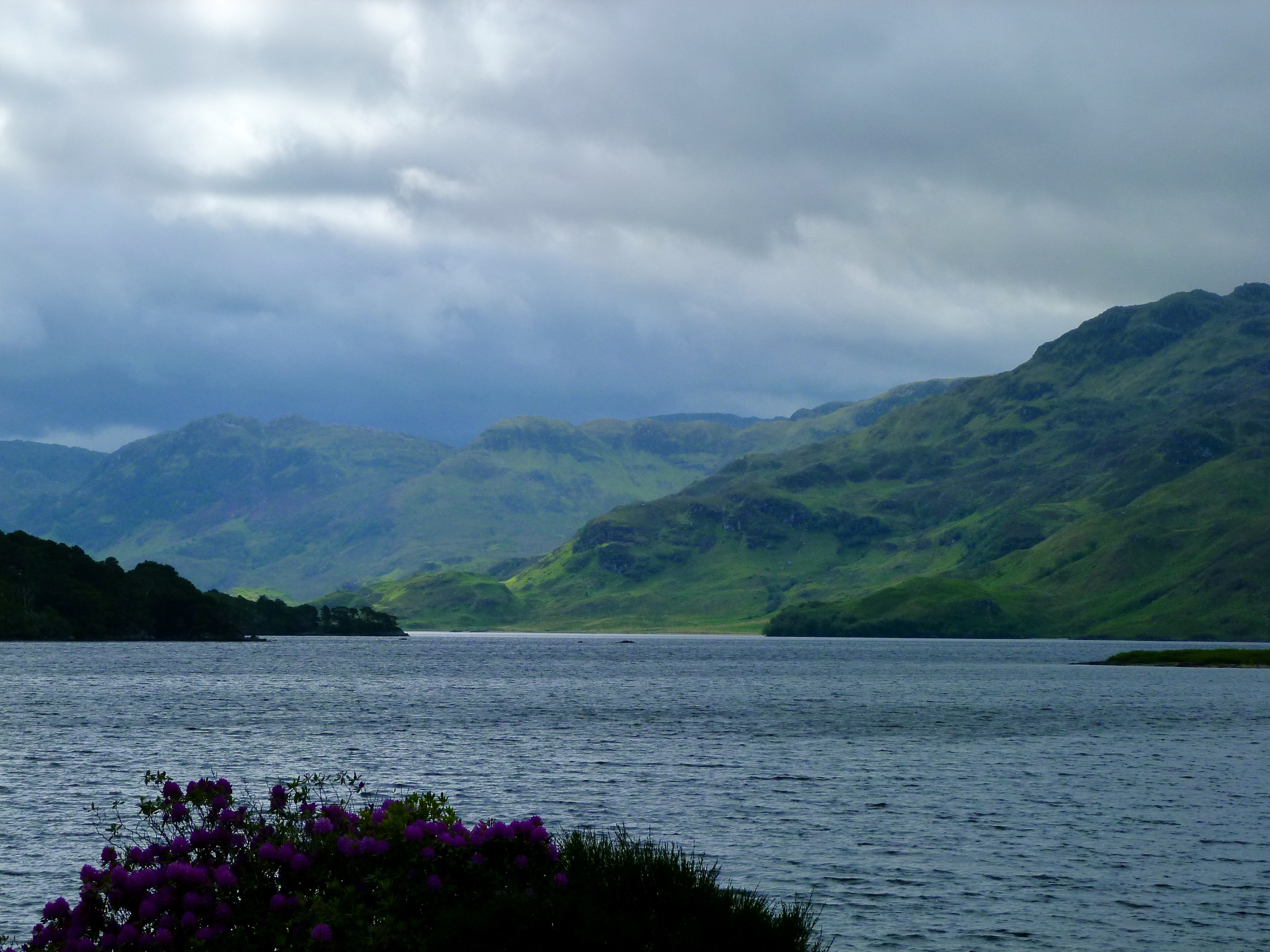 view of Loch Morar from St Cumin's church